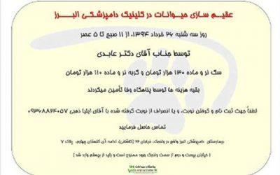 عقیم سازی ارزان سه شنبه 26 خرداد 1394