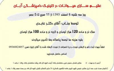 عقیم سازی ارزان-5 اسفند 1393