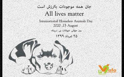 روز جهانی حیوانات بی سرپناه ـ 25 امرداد 1399